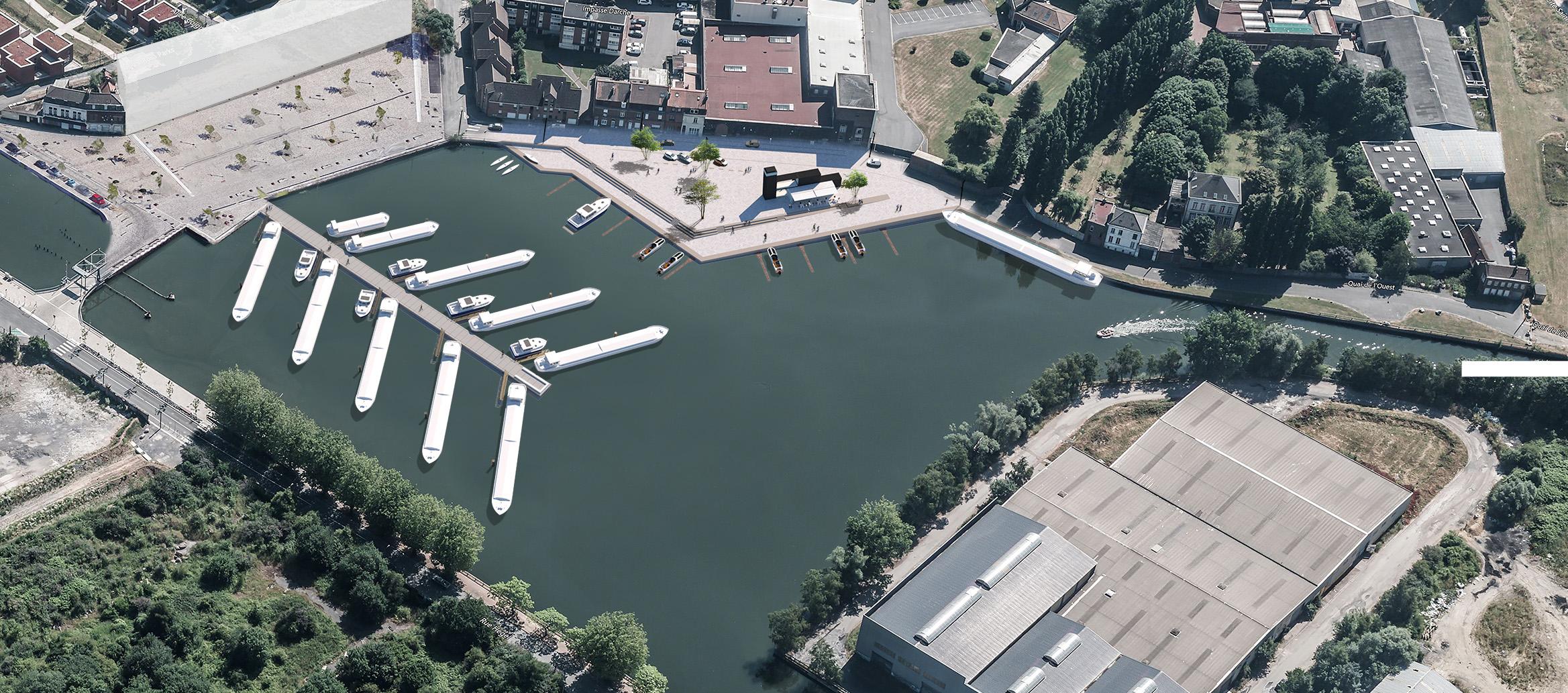Dossier loi sur l'eau - - LILLE LOMME - Préfiguration d'un port de plaisance sur la Gare d'eau