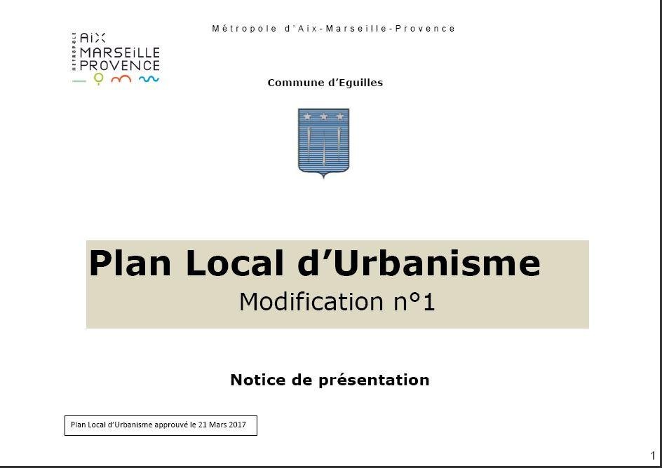 Enquête publique sur le projet de modification n°1 du Plan Local d'Urbanisme (PLU) de la commune d'Eguilles