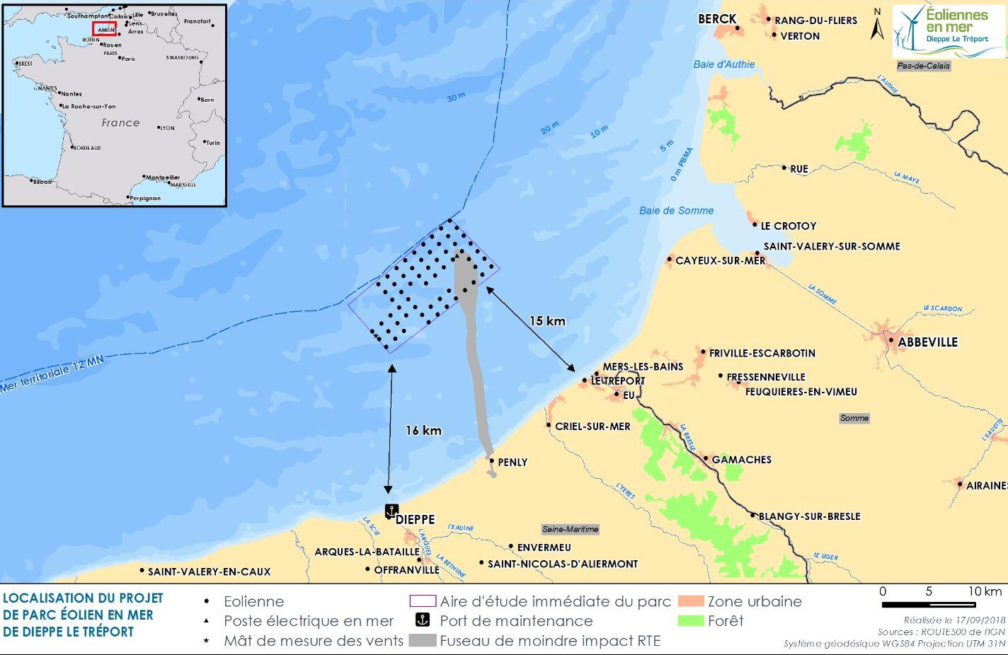 le parc éolien en mer de Dieppe - Le Tréport