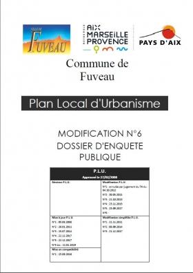 Enquête Publique - Projet de modification n°6 du PLU de la commune de Fuveau