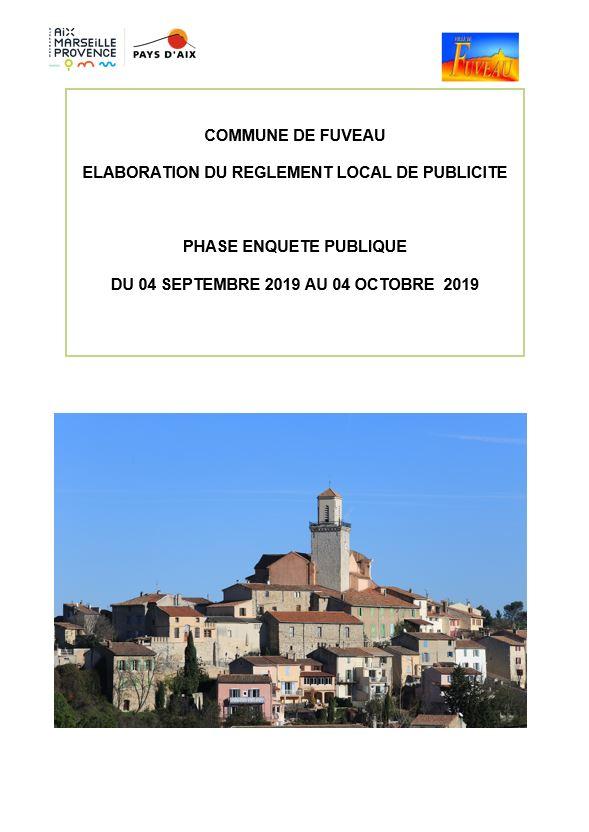 Elaboration du projet de Règlement Local de Publicité de la commune de Fuveau