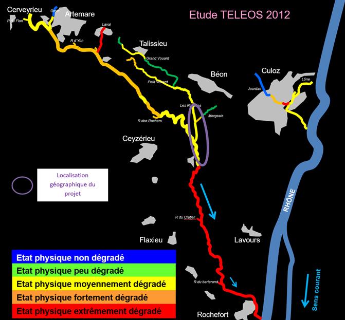Réhabilitation environnementale et hydraulique du Séran et des Rousses, au droit de la réserve naturelle du marais de Lavours