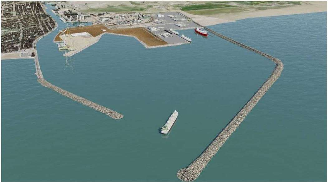 Modification du sea line DN400 dû à l'extension de Port la Nouvelle