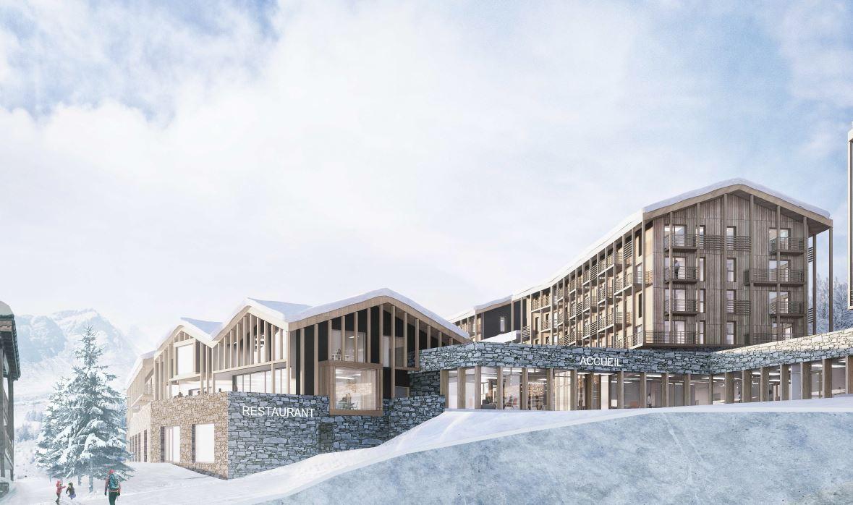 Demande de permis de construire portant sur la construction d'un projet de résidence touristique « l'Ecrin Blanc »