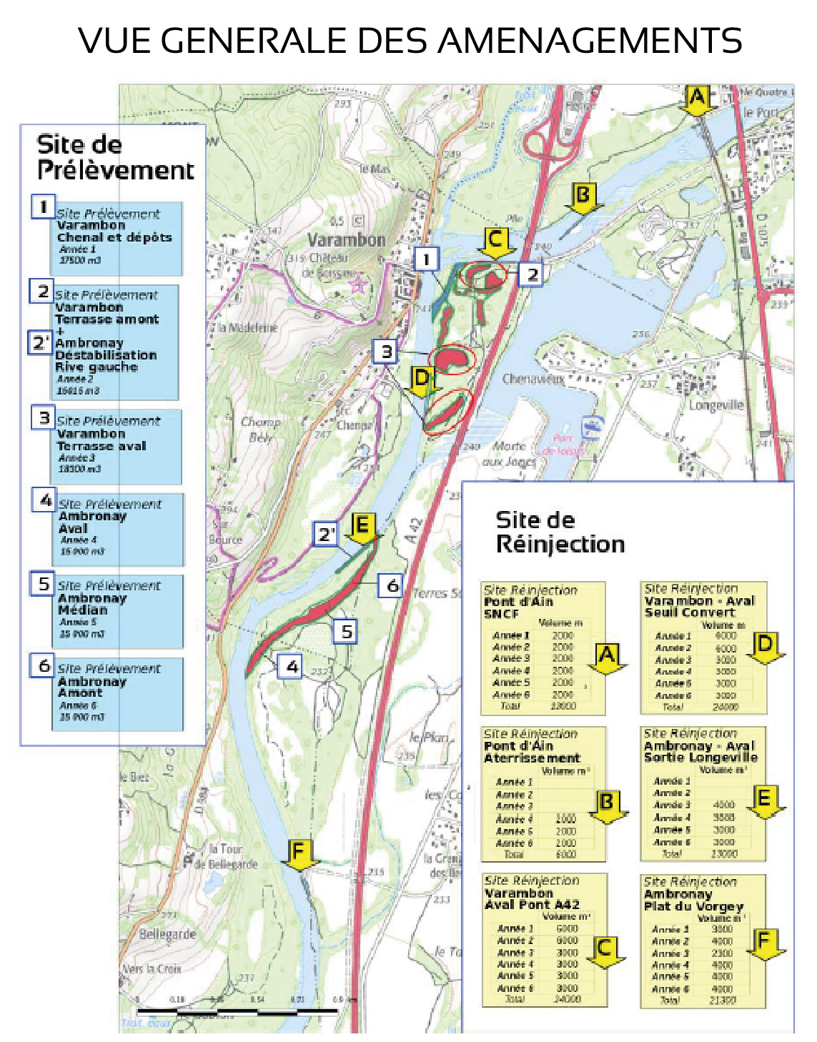 plan de gestion sédimentaire sur la basse vallée de l'Ain