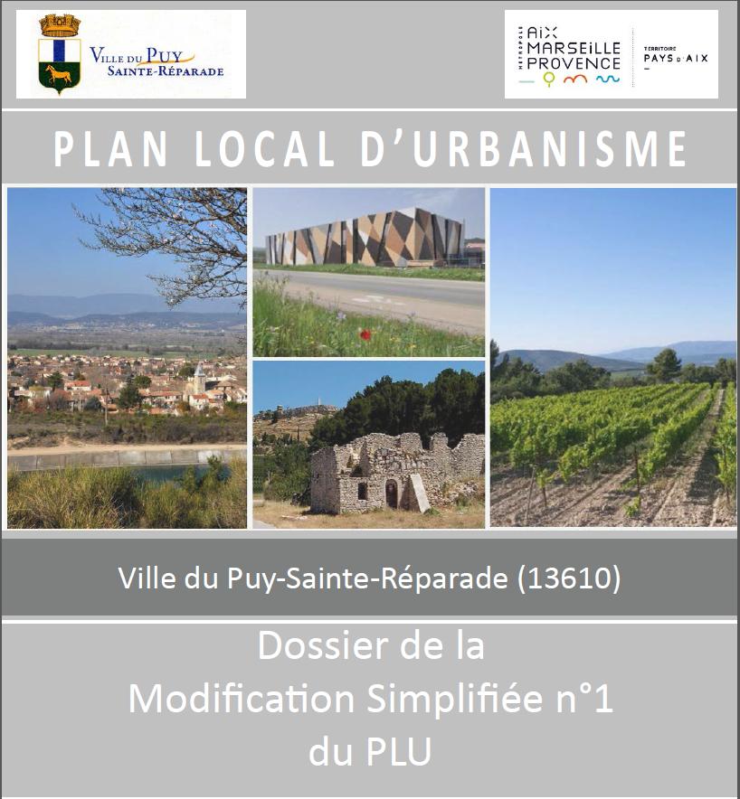 Le projet de modification simplifiée n°1 du PLU de la commune du Puy Sainte Réparade
