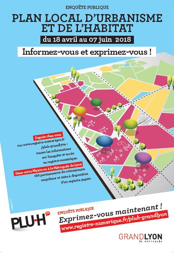 Révision générale du Plan Local de l'Urbanisme et de l'Habitat (PLU-H) de la Métropole de Lyon