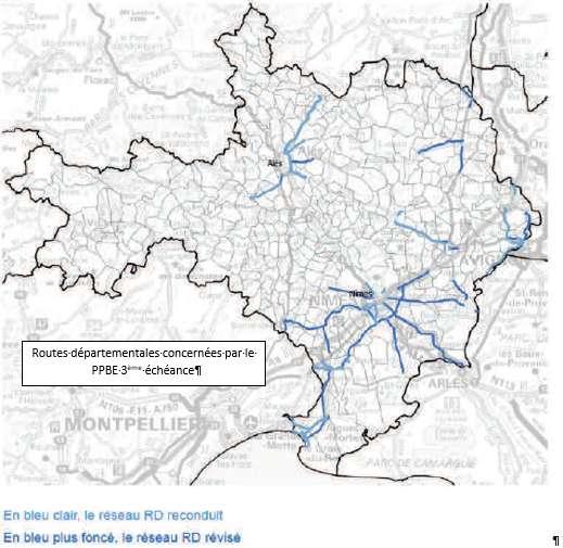 Plan de Prévention du Bruit dans l'Environnement (3ème échéance) du Département du Gard