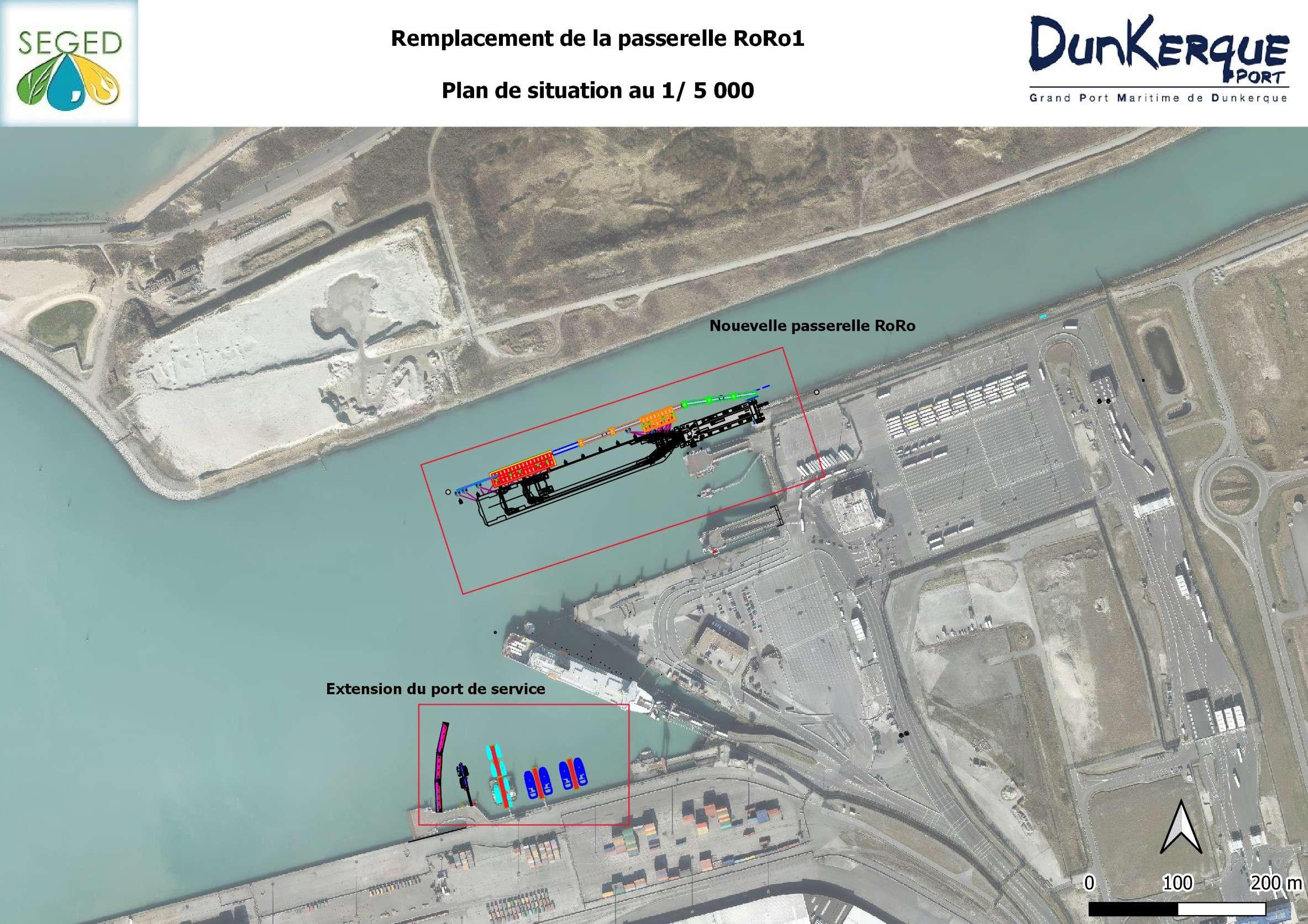 projet de remplacement du poste Transmanche RoRo1 du port Ouest de Dunkerque