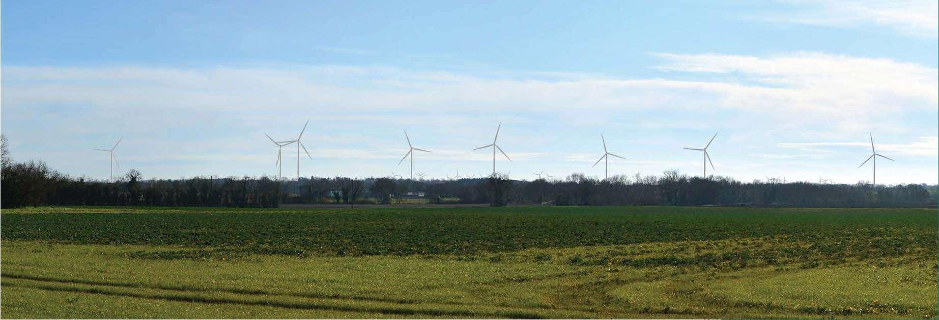 Projet d'un parc éolien sur la commune de SAINT-SAUVEUR-D'AUNIS