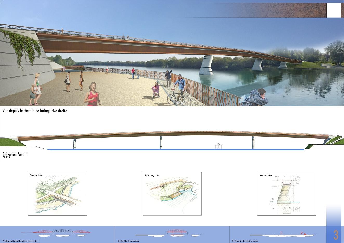 reconstruction du pont de fleurville