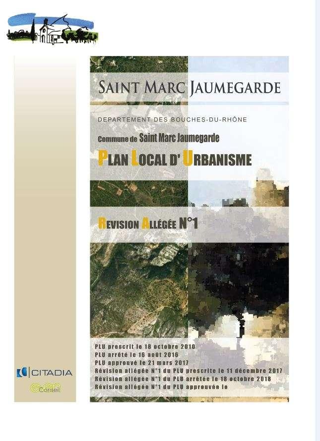 Enquête publique portant sur le projet de révision allégée n°1 du Plan Local d'Urbanisme de la commune de Saint-Marc-Jaumegarde