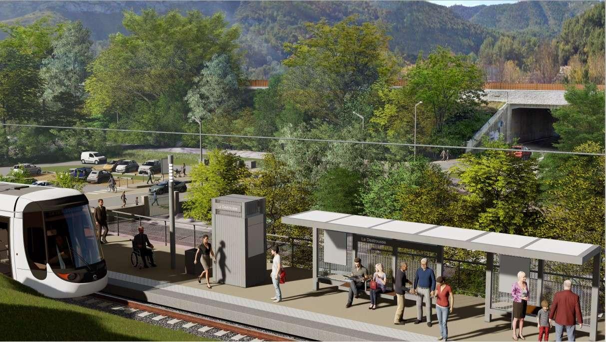 Prolongement du tramway d'Aubagne à La Bouilladisse