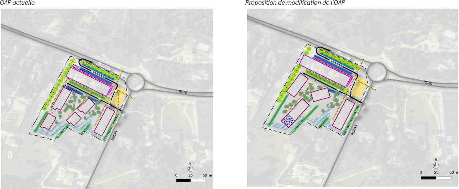 Modification du schéma d'aménagement de l'OAP de secteur n°2
